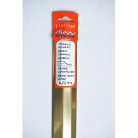 Pletina Perfilada 73X4Mm Distinto Nivel Adhesivo Inox Laton