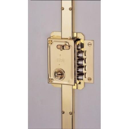 Cerradura Seguridad Sobreponer  11033 Pintado Picaporte/4Pasadores Derecha Fac