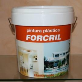 Pintura Plastica Mate 10 Lt Blanco Exterior Forcril Bupisa