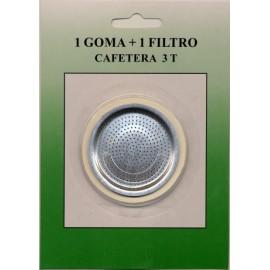 Filtro + Junta Cafetera 03Tazas Oroley Sanfor