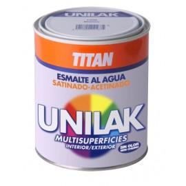 Esmalte Laca Satinado  375 Ml Blanco  Agua Unilak Titan