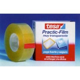 Cinta Adhesiva 15Mmx 66Mt Escritorio/Oficina Transparente Prac Film Tesatape