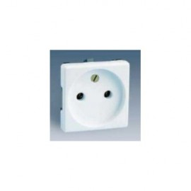 Base Enchufe Electricidad Bipolar Blanco Nieve Serie 27 27431-64 Simon