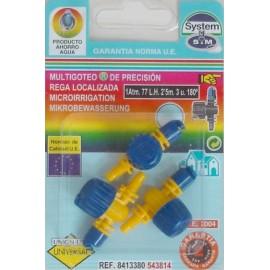 Difusor Riego 180º Goteo S M Polipropileno Micro Con Valvula 543814 3 P