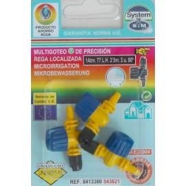 Difusor Riego 90º Goteo S M Polipropileno Micro Con Valvula 543821 3 Pz