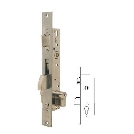 Cerradura Metalica Embutir 22X25Mm 221625Ai Inox Rodillo/Palanca Deslizante Tesa