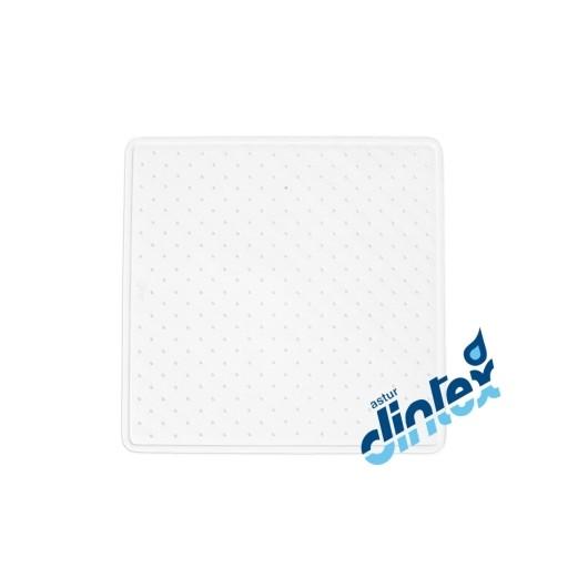 Alfombra Baño Antideslizante 43X43Cm Ducha Blanco Dintex