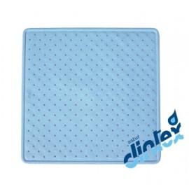 Alfombra Baño Antideslizante 54X54Cm Ducha Azul Donaplus