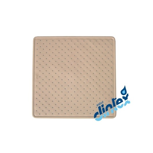 Alfombra Baño Antideslizante 54X54Cm Ducha Beige Donaplus