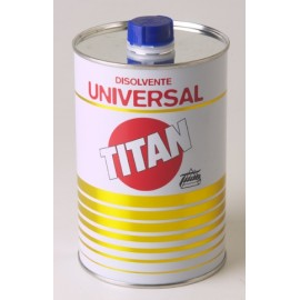 Disolvente Universal  Envase Metalico  Titan 1 Lt