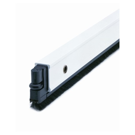 Burlete Bajo Puerta 102Cm Tornillos Cepillo Aluminio Blanco Almalock-2 Alma