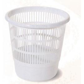 Papelera Residuos Rejilla 16Lt Plastico Gris