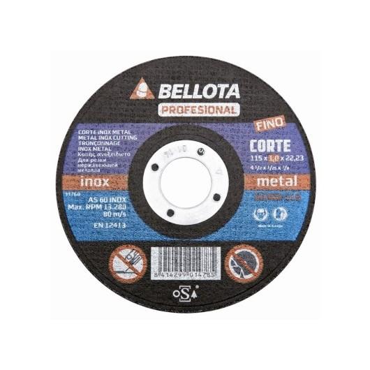 Disco Corte Inox 115X1X22 Mm Bellota