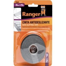 Cinta Antideslizante  25Mmx15Mt Adhesivo  Negro  Ranger