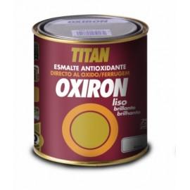 Esmalte Antioxidante Brillante  750 Ml Negro  Exterior Oxiron Titan