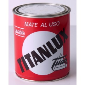Pintura Plastica Mate 750 Ml Blanco Interior SInterior Al Uso Titan
