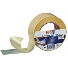 Cinta Adhesiva 50Mmx 10Mt Doble Cara  Moquetas Blanco Super Power Tesatape