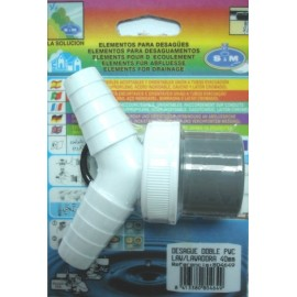 Desague Evacuacion  Lavadora 40Mm Doble Pvc S M