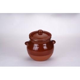 Olla Cocina 4,0Lt Con Tapa Barro Cocinaina Tradicional