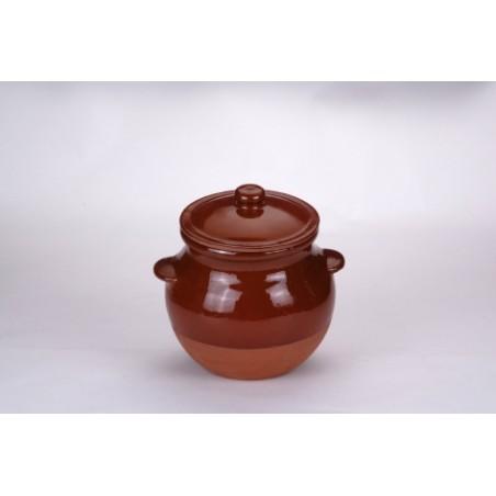 Olla Cocina 6,0Lt Con Tapa Barro Cocinaina Tradicional