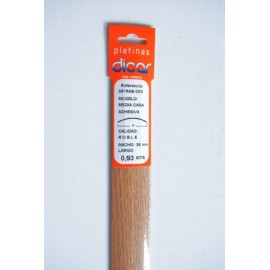 Pletina Perfilada 93X3,5Mm 1/2Caña Adhesivo Inox Roble