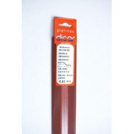 Pletina Perfilada 83X45Mm Distinto Nivel Adhesivo Inox Cerezo