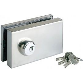 Cerradura Puerta Cristal Vrc Inox Sag