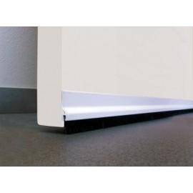 Burlete Bajo Puerta 092Cm Adhesivo Cepillo Aluminio Blanco Burcasa