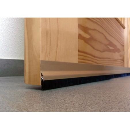 Burlete Bajo Puerta 092Cm Adhesivo Cepillo Aluminio Oro Burcasa