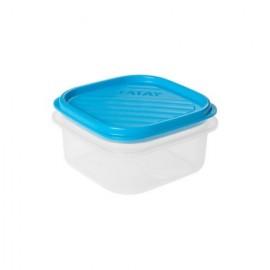 Hermetico Alimentos Cuadrado 0,3Lt Azul PlasticoTatay