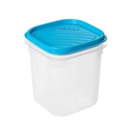 Hermetico Alimentos Cuadrado 0,7Lt Azul PlasticoTatay