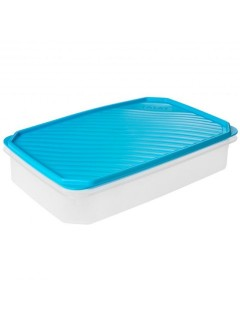Hermetico Alimentos Rectangular 2,1Lt Azul Plastico Tatay