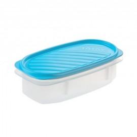 Hermetico Alimentos Ovalado 0,5Lt Azul Plastico Tatay