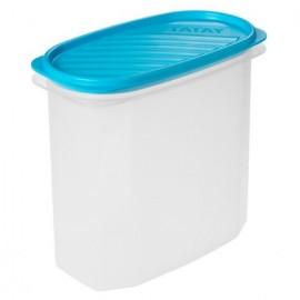 Hermetico Alimentos Ovalado 2,0Lt Azul Plastico Tatay