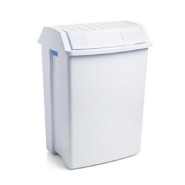 Papelera Residuos Basculante 49Lt Plastico Blanco Tatay