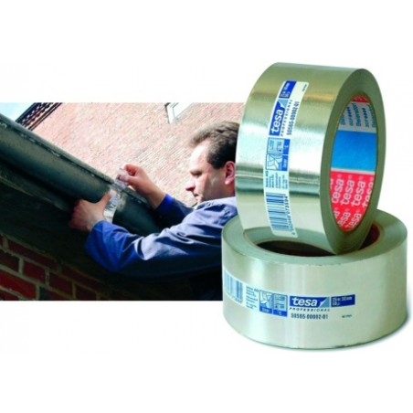 Cinta Adhesiva 50Mmx 25Mt Aluminio Con Protector Tesatape