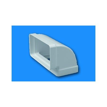 Codo Extraccion/Aire Vertical 110X55Mm Ignifugo/Autoextinguible Blanco 530 Tubpla