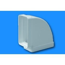 Codo Extraccion/Aire Rectangular 110X55 Ignifugo/Autoextinguible Blanco 535 Tubpla