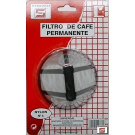 Filtro Cafe Permanente Nylon N.4 Tecnhogar