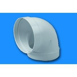Codo Extraccion/Aire Redondo Ignifugo/Autoextinguible Blanco 670 Tubpla
