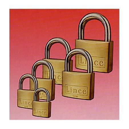 Candado Seguridad  50Mm Arco Corto Llave Nº 3382 Laton Lince