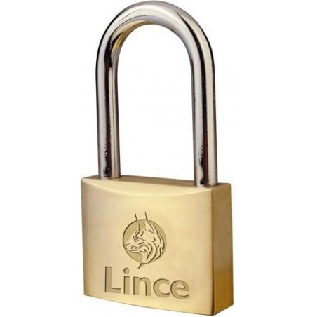 Candado Seguridad  25Mm Arco Largo Llave Nº 3386 Laton Lince