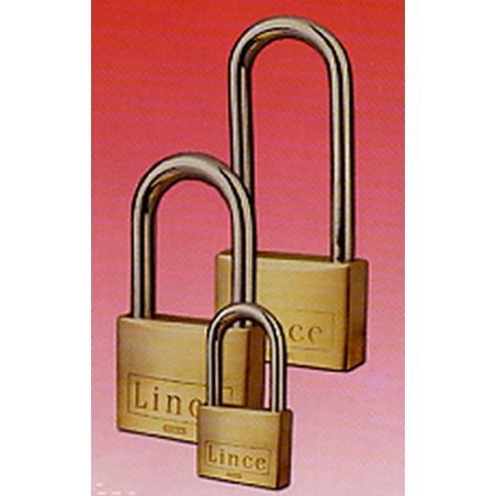 Candado Seguridad  30Mm Arco Largo Llave Nº 3387 Laton Lince
