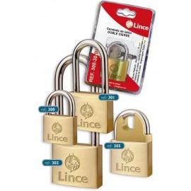 Candado Seguridad  30Mm Arco Extra Largo Laton Lince