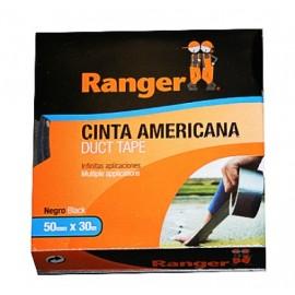 Cinta Adhesiva 50Mmx 10Mt Americana Negro Ranger