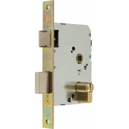 Cerradura Madera Embutir  23X35Mm 2501-235An311 Laton Canto Cuadrado Mcm