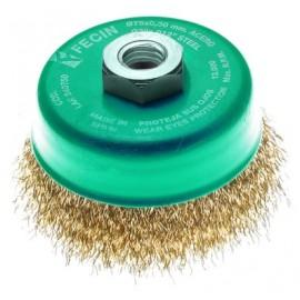 Cepillo Industrial Taza Amoladora 075 Mm / 0,3 Mm Acero/Latonado Fecin