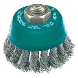 Cepillo Industrial Taza Amoladora 065 Mm / 0,5 Mm Alambre Trenzado Fecin