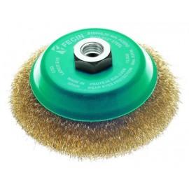Cepillo Industrial Taza Amoladora 100 Mm / 0,3 Mm Acero/Latonado Fecin