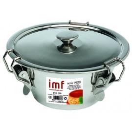 Flanero Resposteria Liso 16Cm Con Tapa Inox Imf